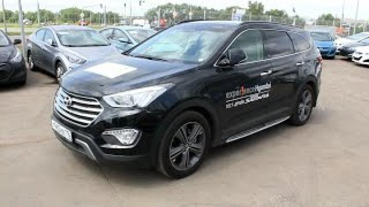 2014 Hyundai Grand Santa Fe High-Tech. Start Up, Engine, and In Depth Tour.